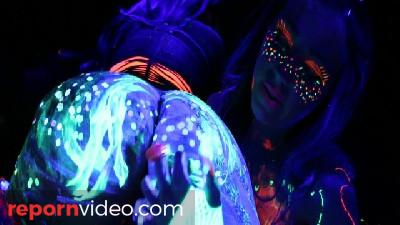 Abigail Mac and Ava Adams Blacklight Sex Party